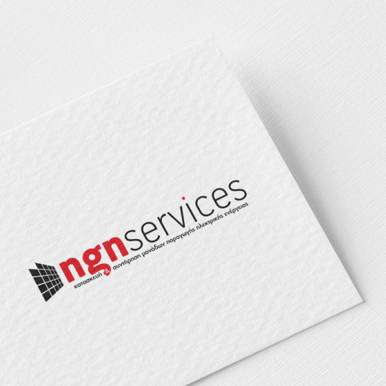 Σχεδιασμός Λογοτύπου για την εταιρεία NGN Services στη Λάρισα.