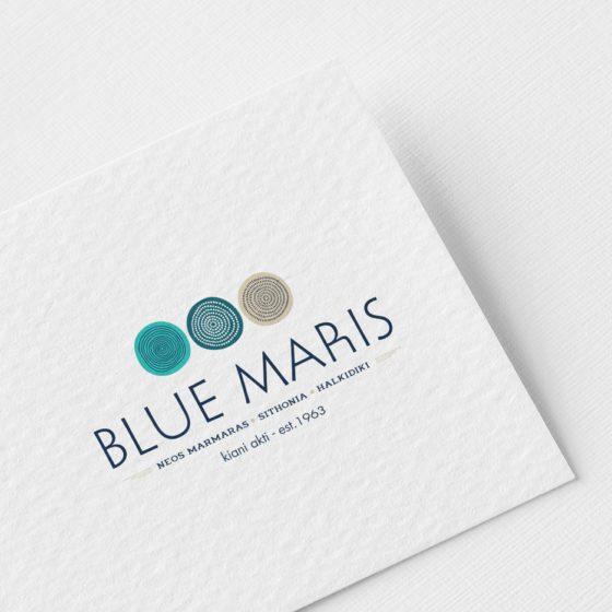 Σχεδιασμός λογοτύπου για τα ενοικιαζόμενα δωμάτια Blue Maris στον Νέο Μαρμαρά.