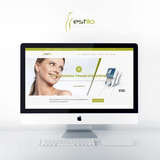 Κατασκευή Ιστοσελίδας για το κέντρο αισθητικής Estilo Beauty στη Λάρισα.