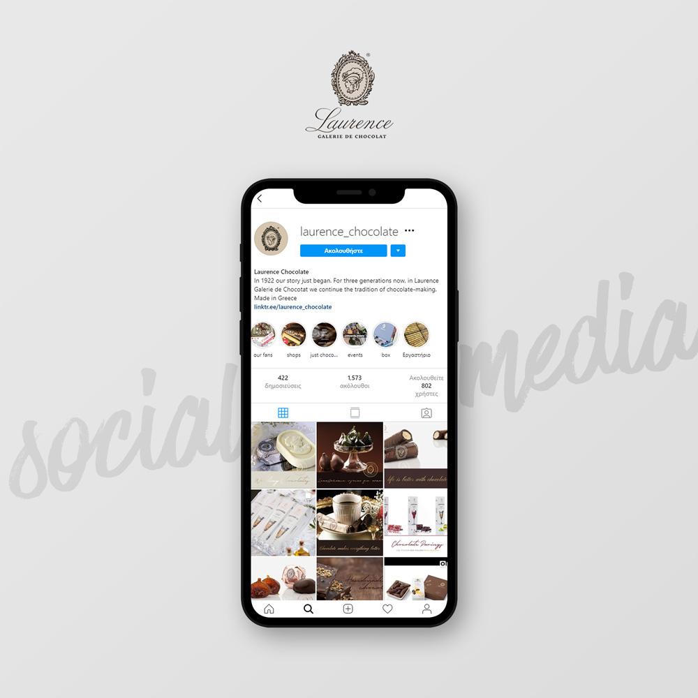 Διαχείριση Social Media για τη σοκολατοποιία Lawrence στην Θεσσαλονίκη.