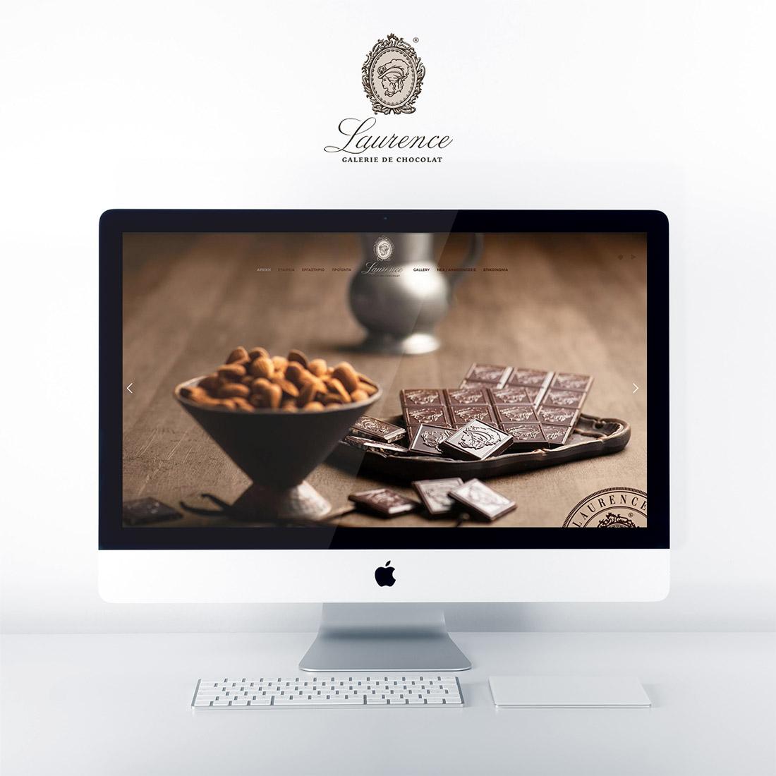 Κατασκευή Ιστοσελίδας για τη σοκολατοποιία Lawrence στην Θεσσαλονίκη.