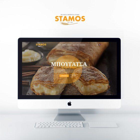 Κατασκευή ιστοσελίδας για την εταιρεία Ζύμη Στάμος στον Βόλο.
