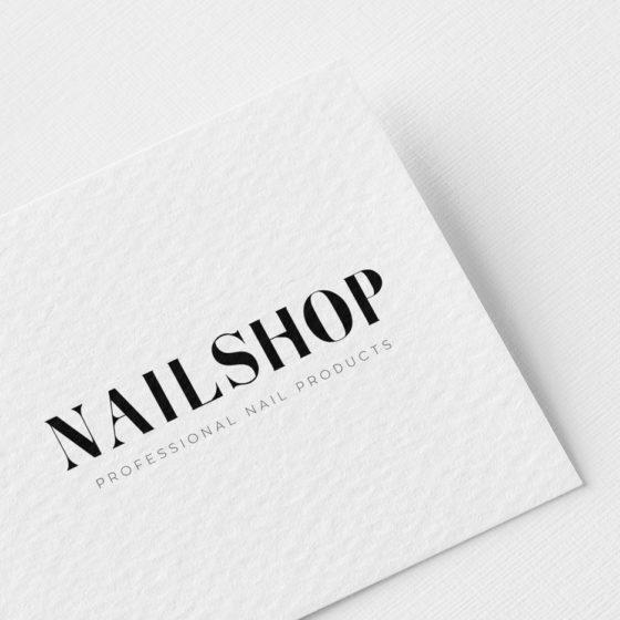 Σχεδιασμός Λογοτύπου για την εταιρεία NailShop στην Αθήνα.