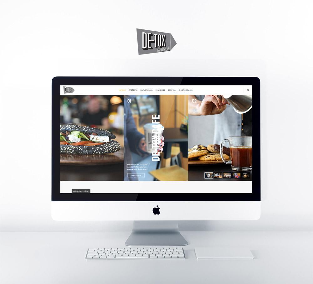 ΚατασκευήΙστοσελίδαςγιατηναλυσίδακαφέDe ToxTheAngleCafe.