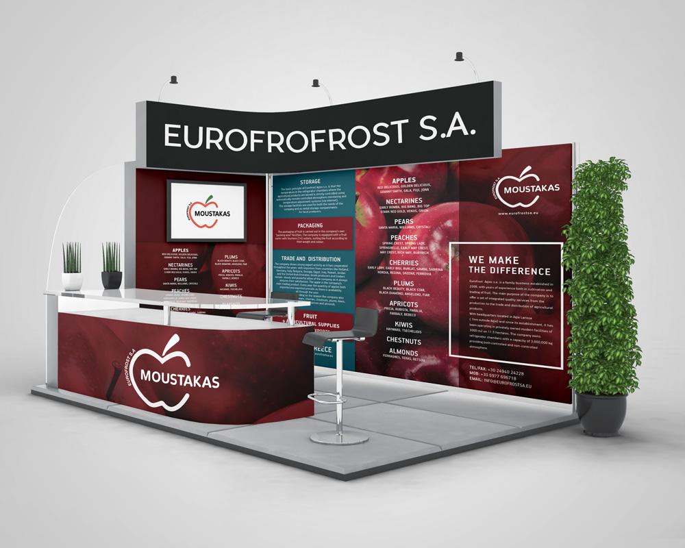 Σχεδιασμός Banner Έκθεσης για τη Eurofrost S.A