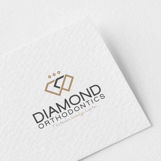 Σχεδιασμός λογοτύπου για το Diamond Orthodontics Tzatzakis Invisalign Center στην Λάρισα.